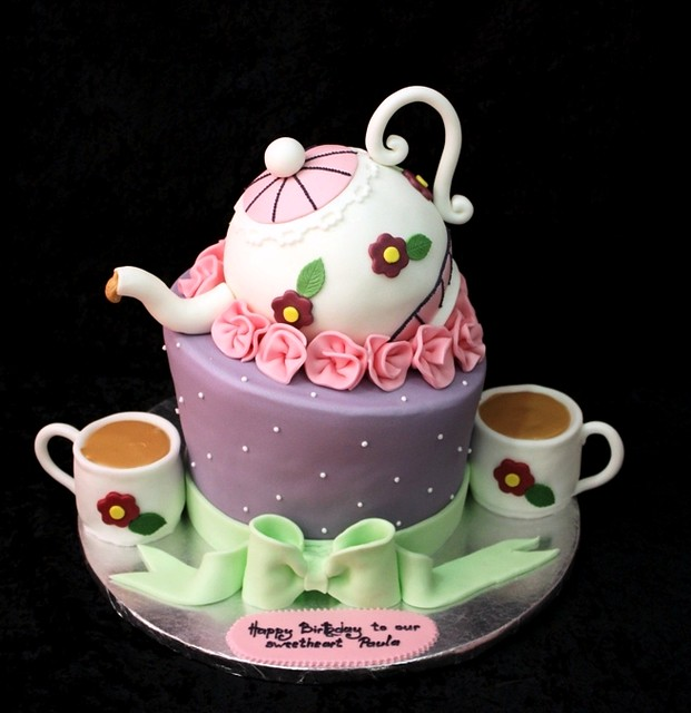 Cake Ideas For A Tea Party Birthday : tea party cake Flickr - Photo Sharing!
