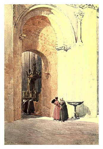 007-Antigua catedral de San Salvador Aix-en ProvenceSketches on the old road through France to Florence-1905- Alexander Henry Hallam