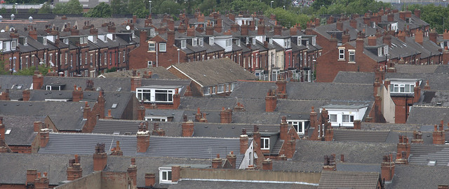 Leeds rooftops from Holbeck