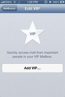 VIP Inbox iOS 6