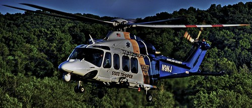 NJ State Police Search & Rescue helicopter