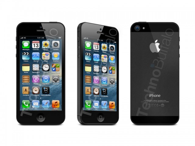 iphone 5 black - front, side and back views   Flickr ...