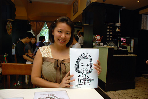Caricature live sketching at La Noce Italian Restaurant -2
