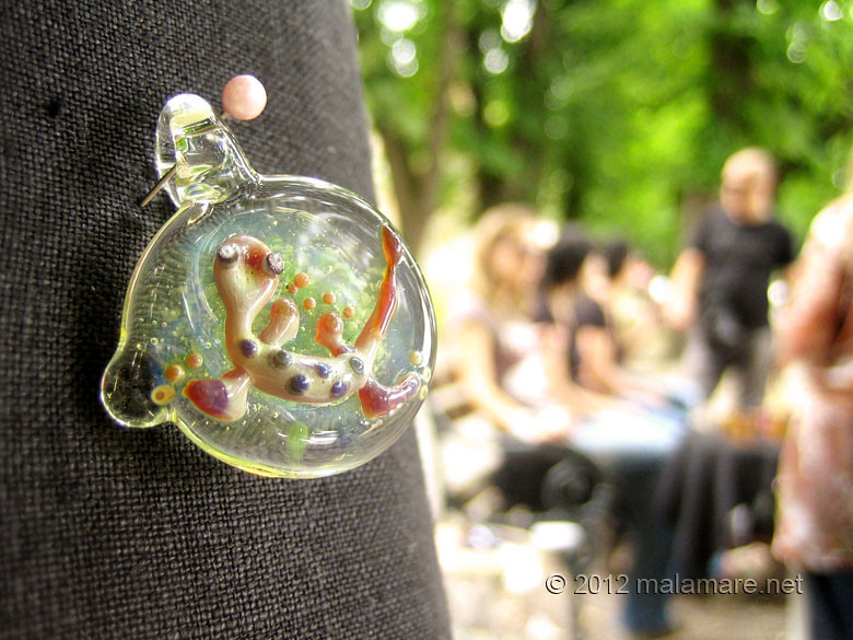handmade fair karlovac june 2012 glass world gecko pendant