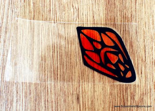 DIY paper & Tape Butterflies - Coloring Wing