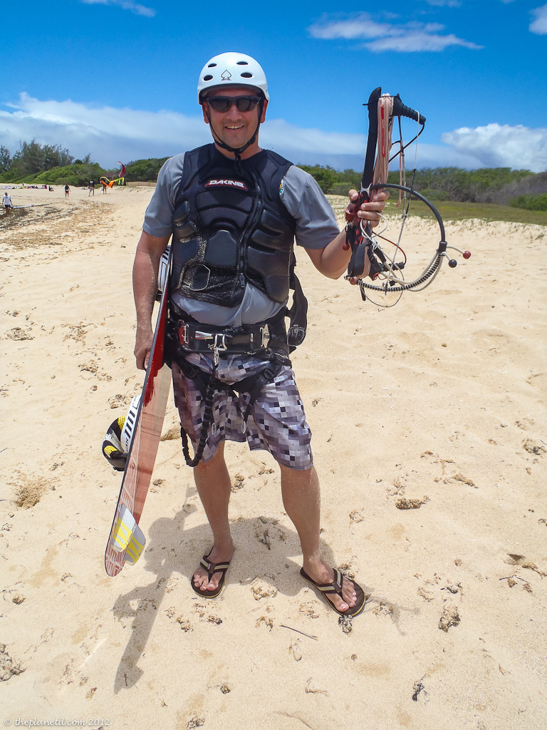 Adventure Travel Blogger Dave gears up for Kiteboarding