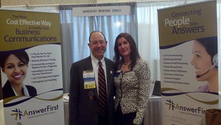 AnswerFirst's Tricia Thompson with the President of the Florida Bar
