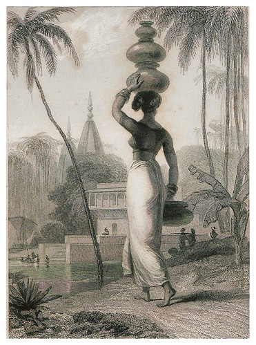 019-Una mujer indu-The oriental annual, or scenes in India 1835-1840- William Daniell-© Universitätsbibliothek Heidelberg