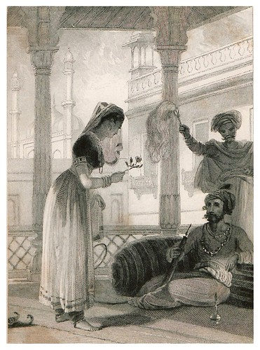 009-Una mujer mahometana presentado una rosa a su Lord-The oriental annual, or scenes in India 1835-1840- William Daniell-© Universitätsbibliothek Heidelberg
