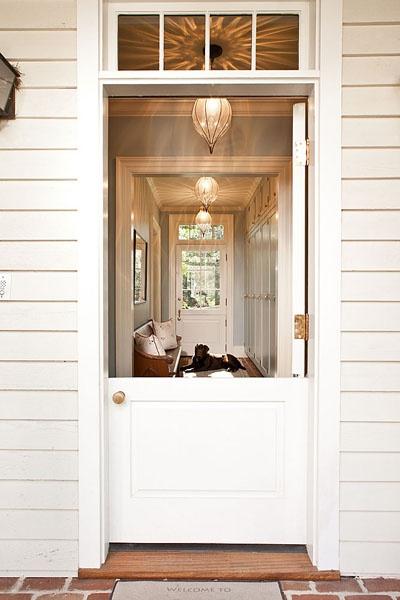 Note How The Door Knob Of This Dutch Door Is In The Center Of The Door.  Source Unknown.