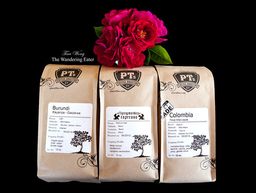 Pound bags of Burundi Kayanza - Gacokwe, Flying Monkey Espresso, and Columbia Finca Villa Loyola (Direct Trade) coffee beans