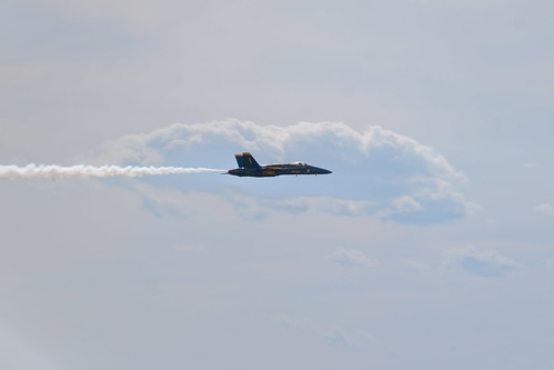US Navy Blue Angel #1; Portsmouth, NH June 2012 by Arthur Noel