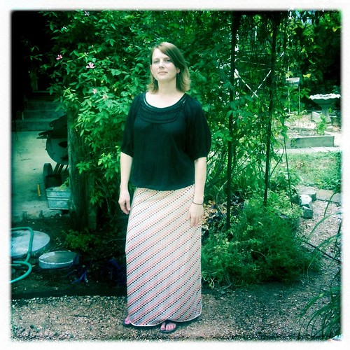 Self drafted knit maxi skirt