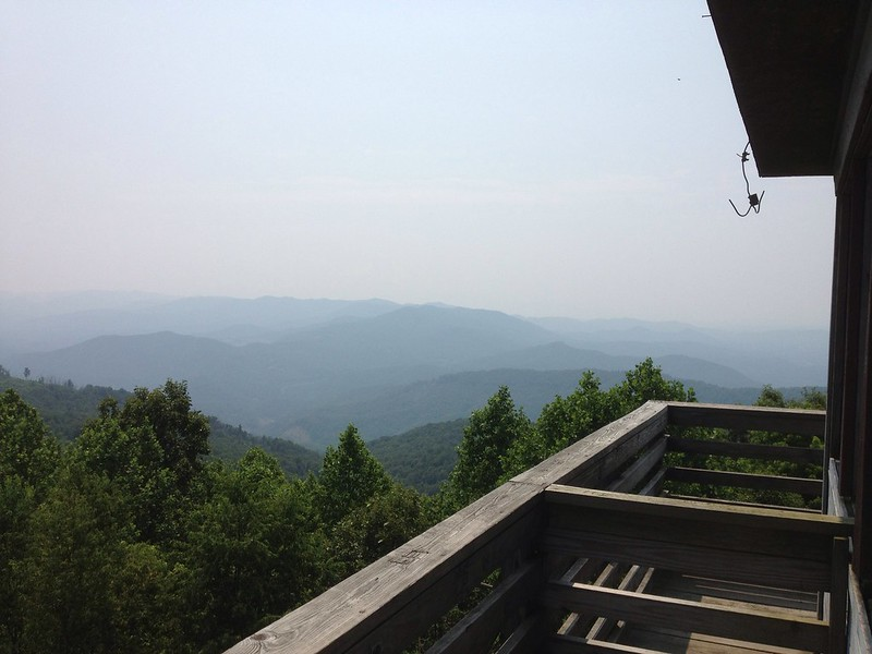 view from Hurricane Gap fire tower