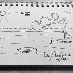 Day 3: The Best Part Of My Day - Walking Along the Broadwater With My Peeps. #photoadayjuly #bdrawsthings #handdrawn