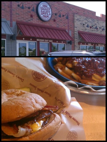 Ptw Ate lunch at Bagger Dave's today. Very tasty. Still full.