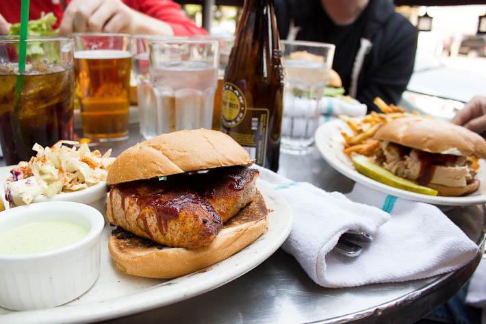 Frontier Room Salmon Sandwich.