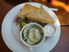 Rueben sandwich at the Upstream