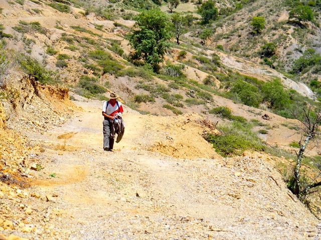 Walking alone in rural bolivia