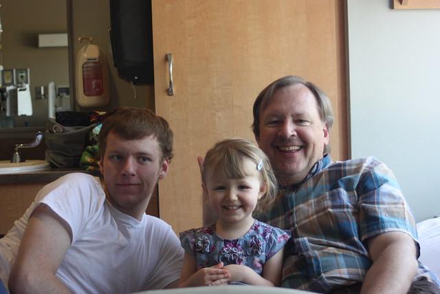 Dad, Sam, Cordelia