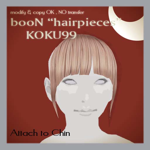 booN KOKU99 hairpieces