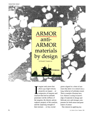 Armor and Anti-Armor Materials By Design