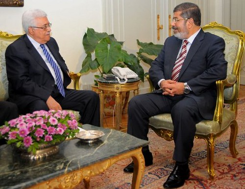 President Morsi of Egypt met with Palestine Authority President Abbas on July 18, 2012. The two discussed issues involving both countries. by Pan-African News Wire File Photos