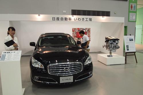 シーマとVQ35 HRエンジンカットモデル