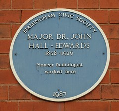 Photo of John Hall-Edwards blue plaque