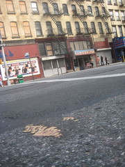 Revisiting Classic Message Toynbee Tile 22nd St and 7th Ave NYC 9101