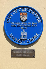 Photo of Edward Story and Market Cross, Chichester blue plaque