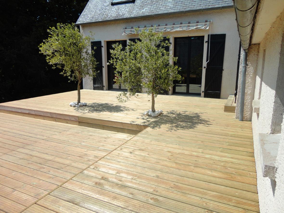 kerbrat jardins terrasse bois sur lev e niveaux l02. Black Bedroom Furniture Sets. Home Design Ideas