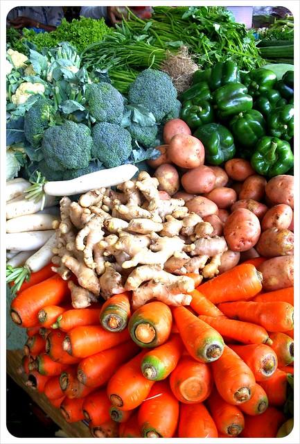 phnom penh central market vegetables