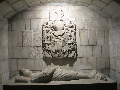 Knight Templar's tomb, Santa Anna church, Barcelona, Spain
