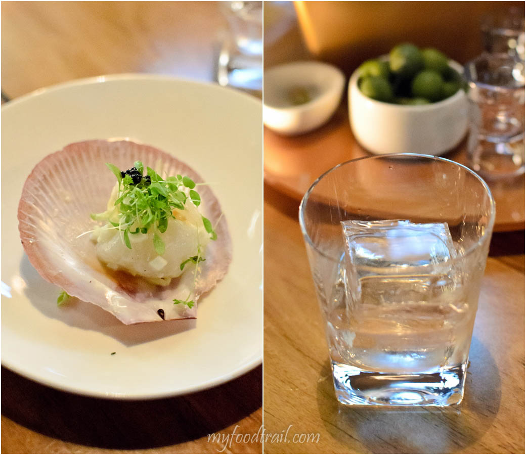 Absolut Elyx Launch - Absolut on the rocks with Scallop, crab & apple remoulade, Avruga caviar