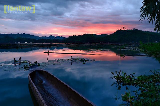 Lake Sebu Sunset: color burst at dusk