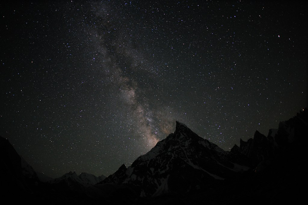 Milky Way over Mitre Peak, Karakorum