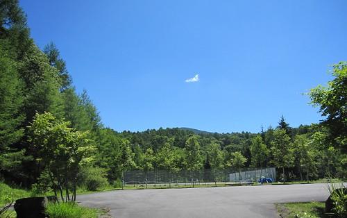 別荘地のテニスコート by Poran111