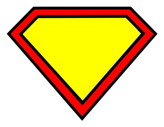 superman logo blank