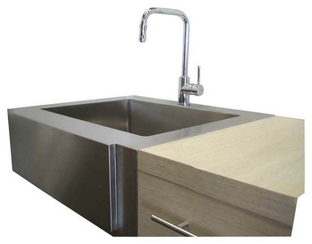 30 Inch Apron Sink : 30 Inch Stainless Steel Flat Front Farmhouse Apron Kitchen Sink Single ...
