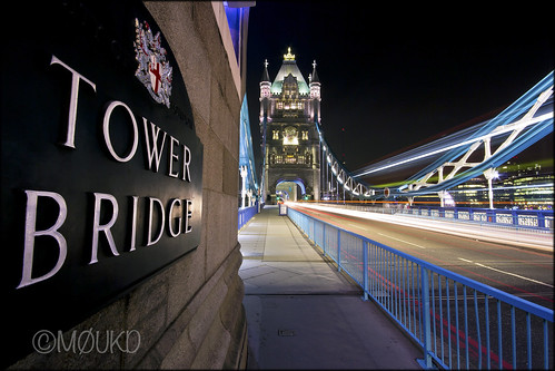 Tower Bridge at night - Wide angle 10mm
