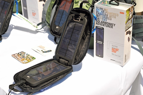SolarMonkey Adventurer portable solar charger by Powertraveller contains a 2500mAh internal lithium polymer battery with output of three watts to keep all your essential gadgets fully-charged no matter how far you roam