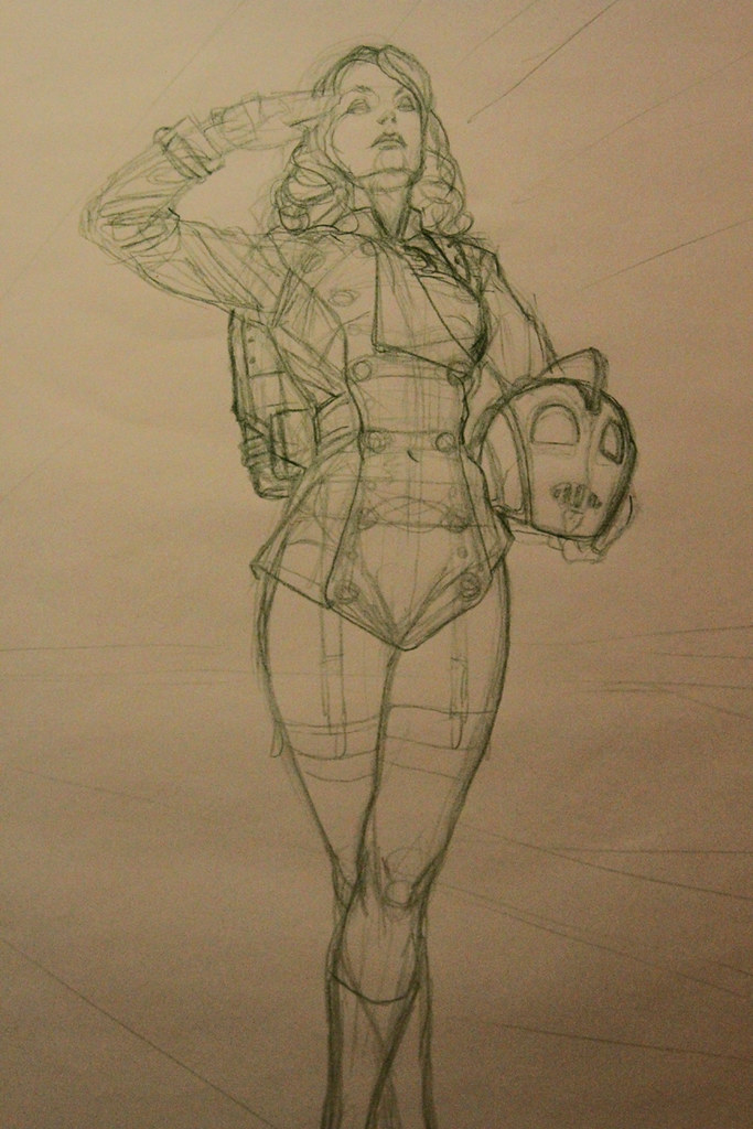 miss rocketeer sketch Adriano De Vincentiis