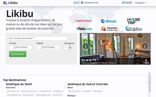 Likibu, le comparateur de locations de vacances