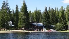 Postill Lake lodge on the shore