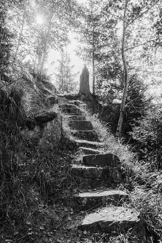 Steintreppe im Höllental