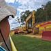 Stunt show excavator
