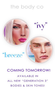 new skins available tomorrow! ivy & breeze