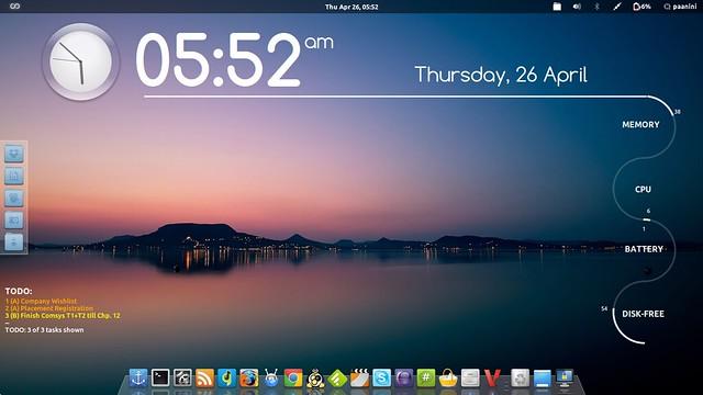 Gnome 3 shell, ambiente grafico, Ubuntu, Arch Linux