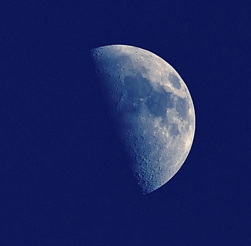 Todays 54% Moon at 400mm Handheld